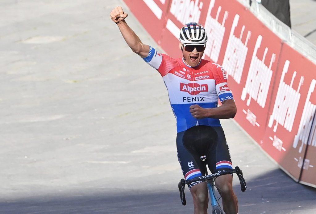Van der Poel at Strade Bianche