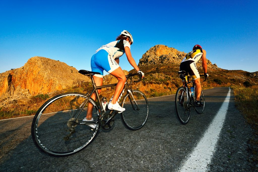 Cycling in hills