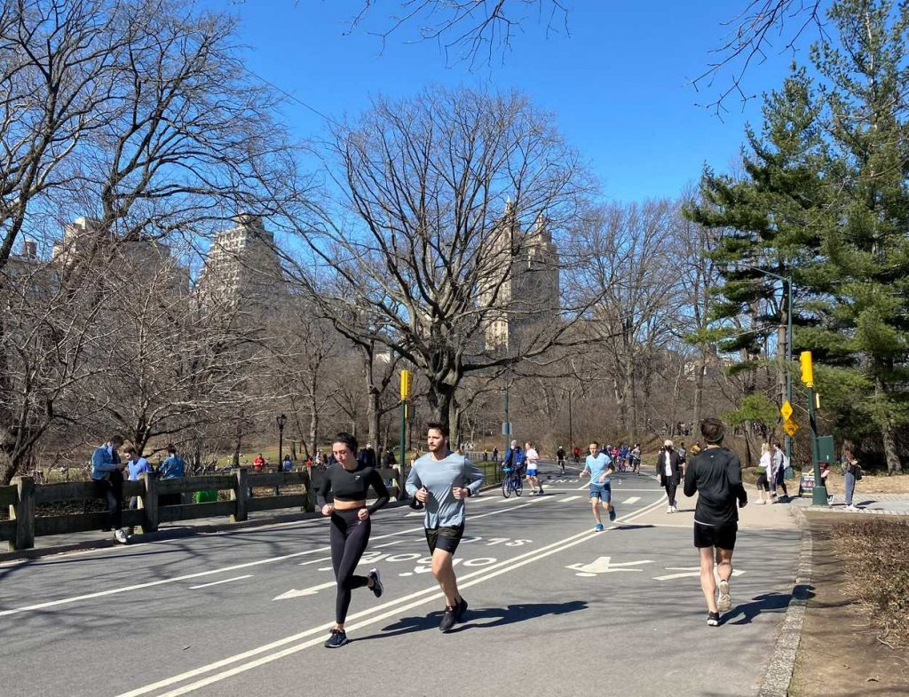 Running in a park