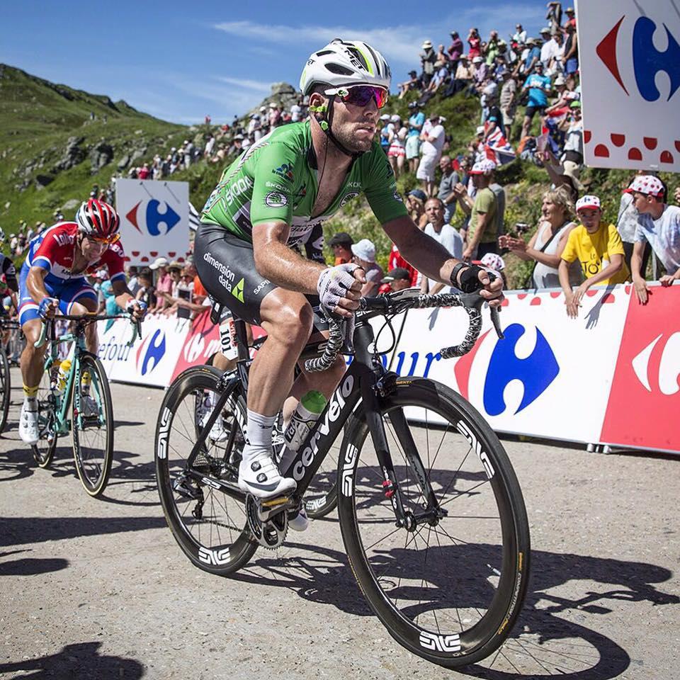 Mark Cavendish v zeleném dresu na Tour de France 2016. Foto: facebook Marka Cavendishe