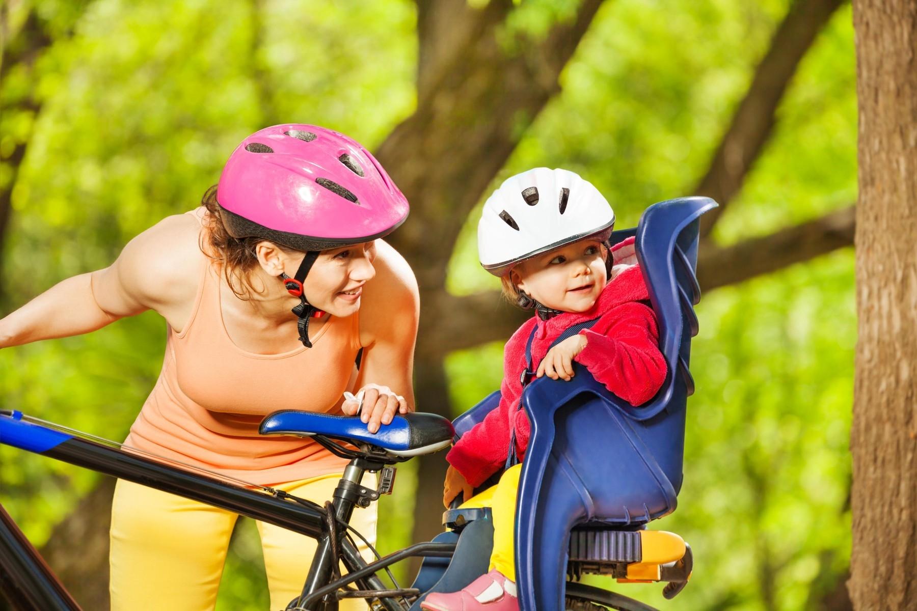 Zadní varianta uchycení dětské cyklosedačky. Foto: profimedia