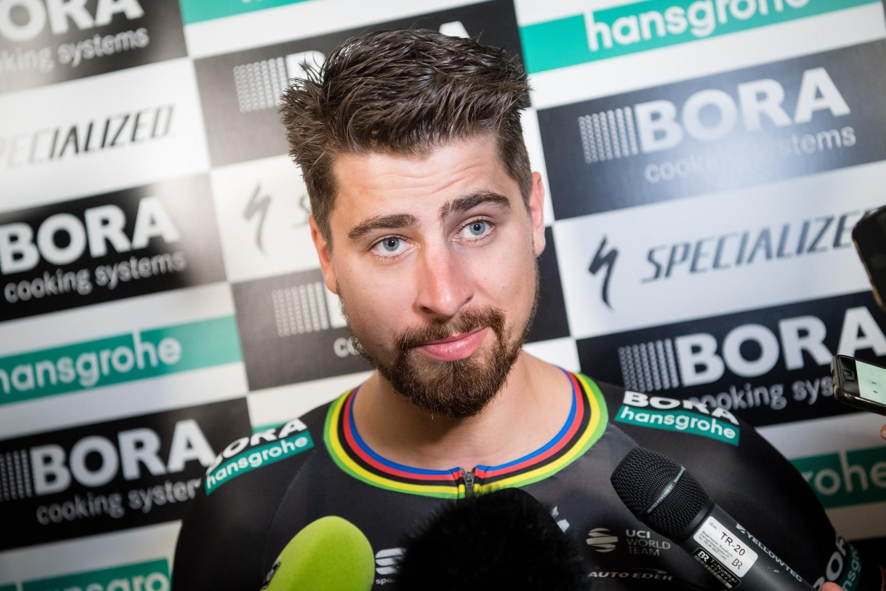 Slovenský cyklista Peter Sagan zodpovídal otázky novinářů na soustředění v Rakousku prostřednictvím videokonference. Foto: profimedia