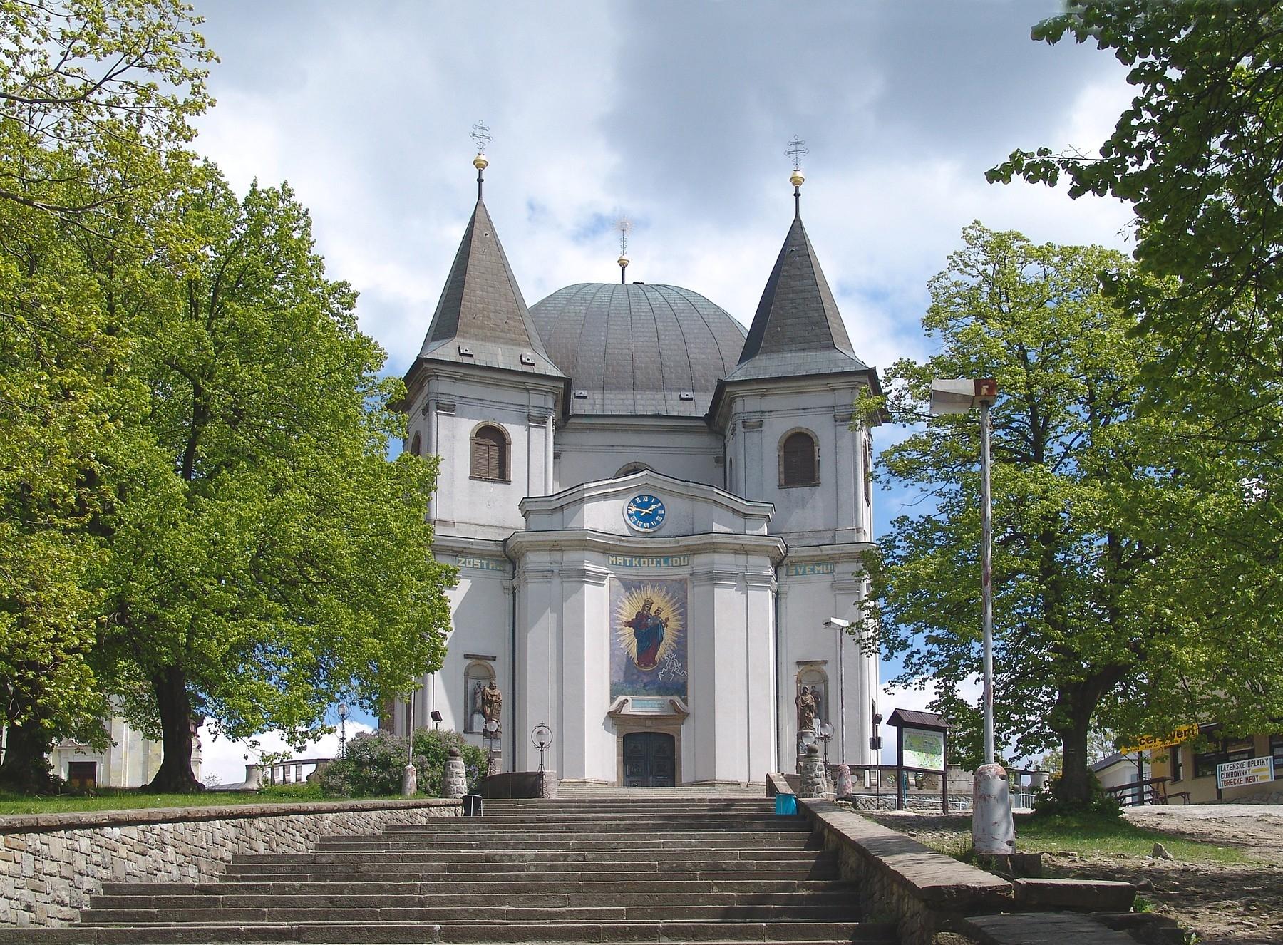 Poutní bazilika Nanebevzetí Panny Marie na Svatém Hostýně je oblíbenou výletní destinací Jiřího Ježka. Foto Profimedia