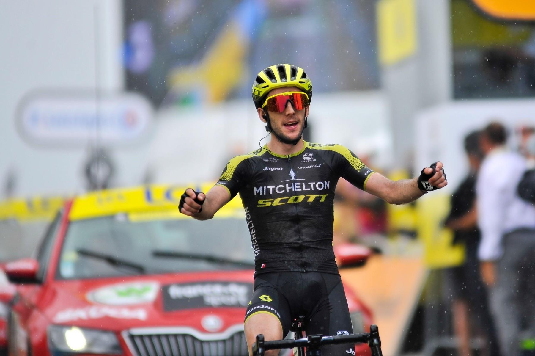 Simon Yates po vítězství v 15. etapě Tour de France 2019. Foto: profimedia