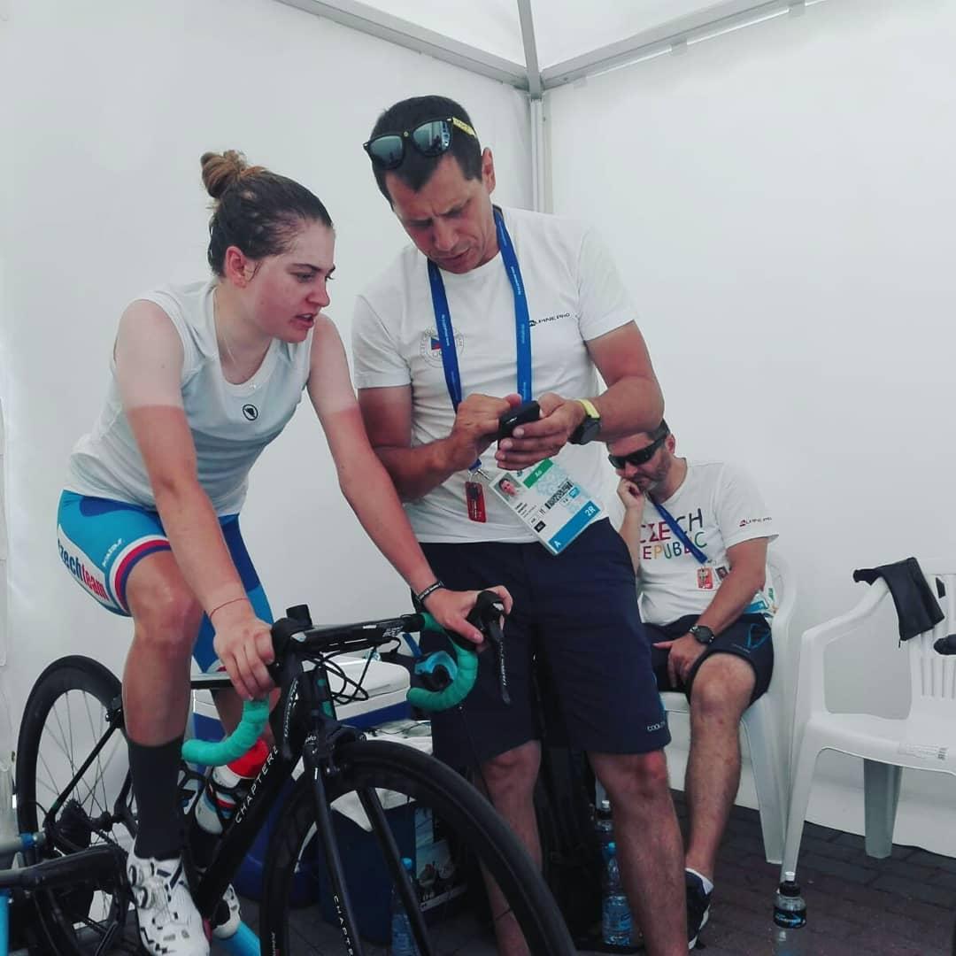 Tomáš Konečný s Nikolou Noskovou při Evropských hrách v Minsku. Foto: instagram