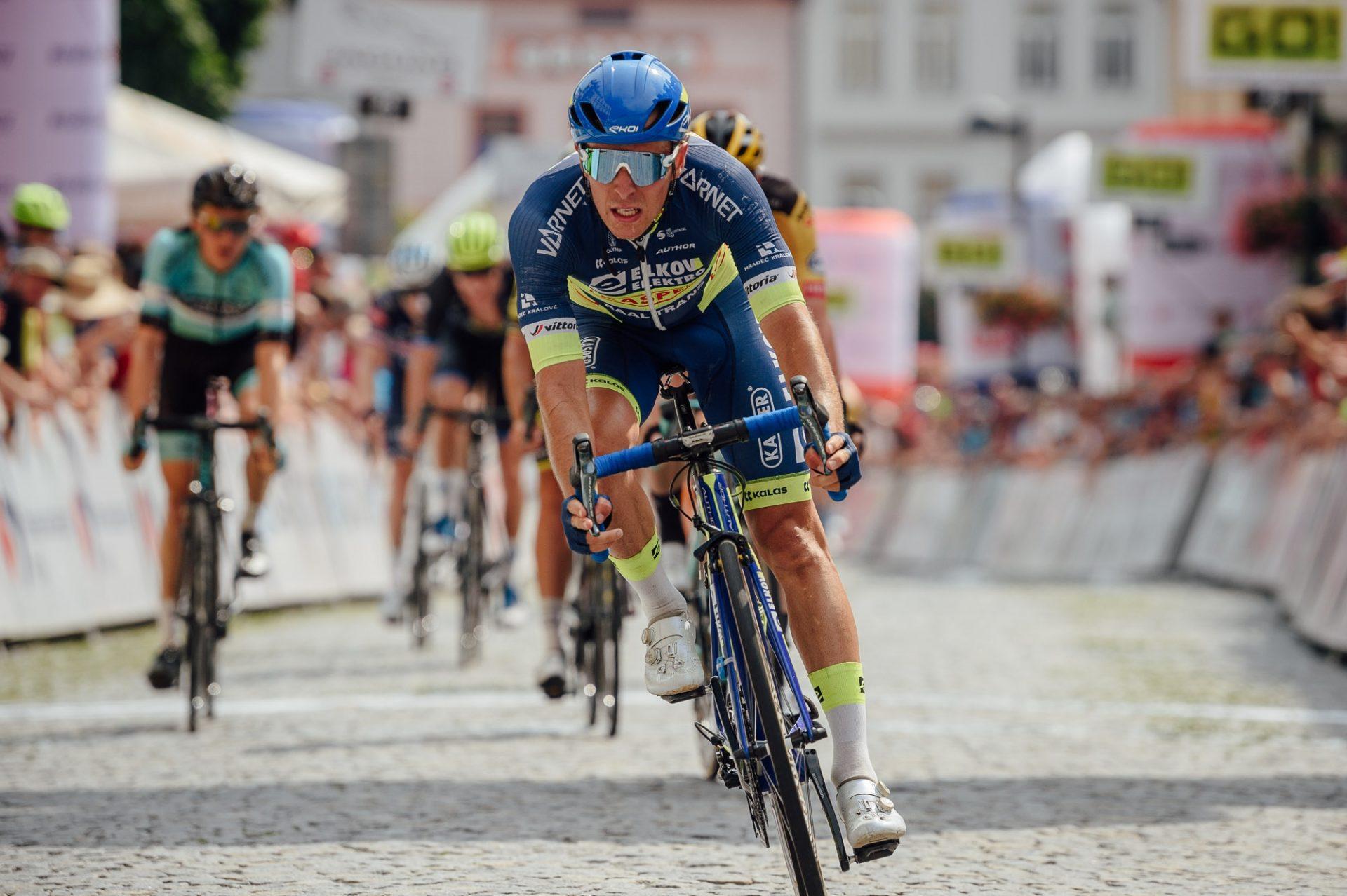Adam Ťoupalík při závodě Czech Cycling Tour vybojoval čtvrté místo, když oslnil výkonem v královské etapě. Foto: Jan Brychta