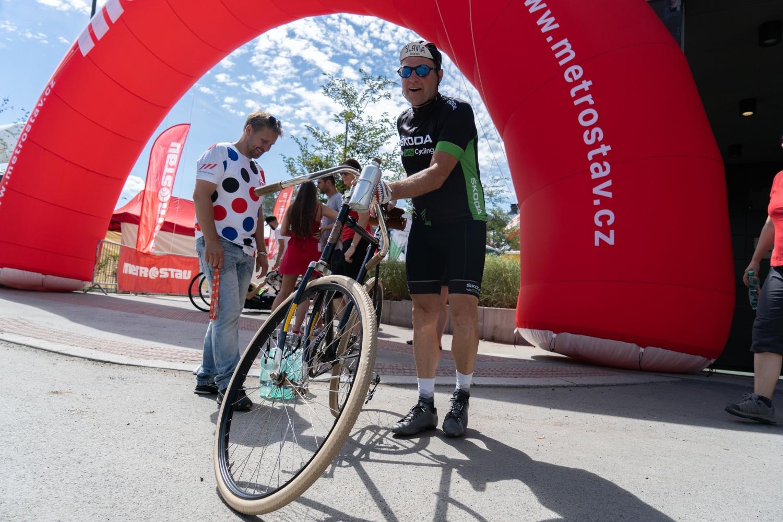 Vladimír Vidim, člen týmu We Love Cycling, na startu 8. ročníku Metrostav Handy Cyklomaratonu.