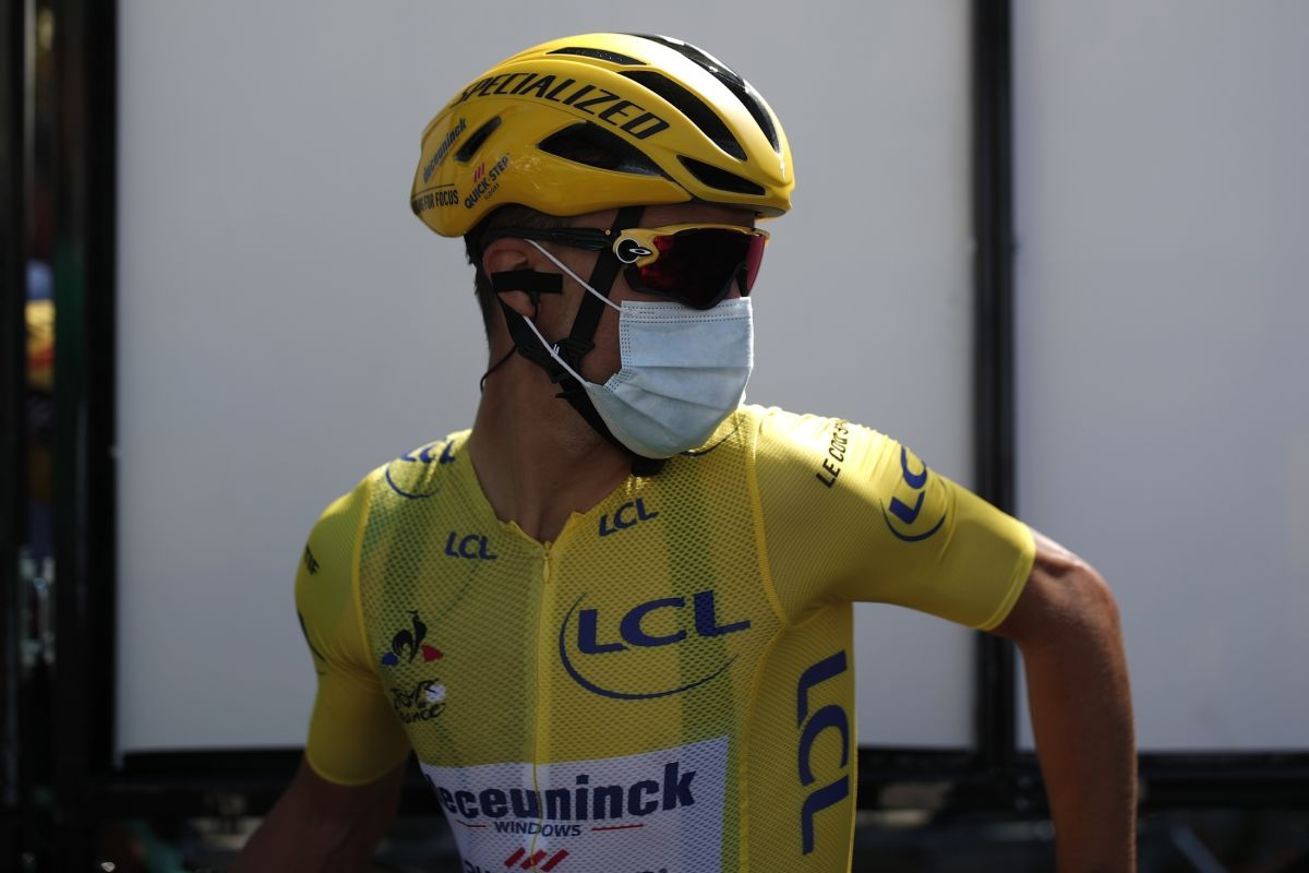 Julian Alaphilippe ještě ve žlutém dresu lídra Tour de France. Foto: Stephane Mahe - Pool/Getty Images/Deceuninck Quick Step