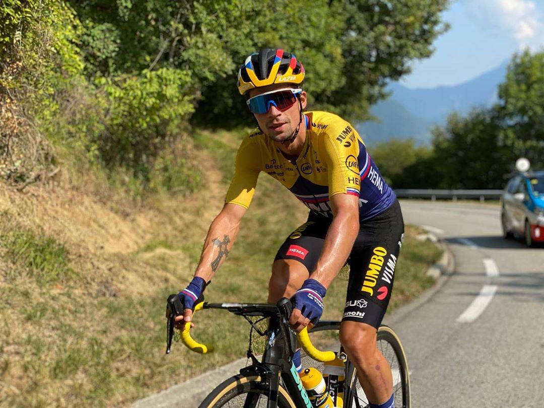 Primož Roglič po patnácti etapách vládne Tour de France 2020. Foto: instagram