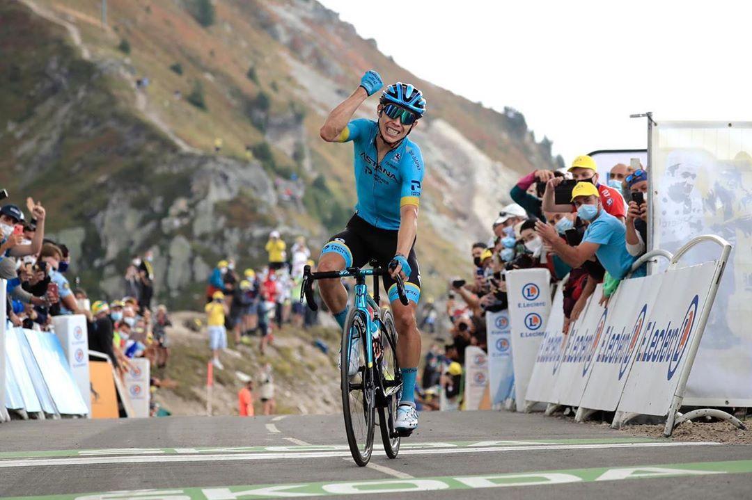 Miguel Ángel López na Col de La Loze. Foto: instagram
