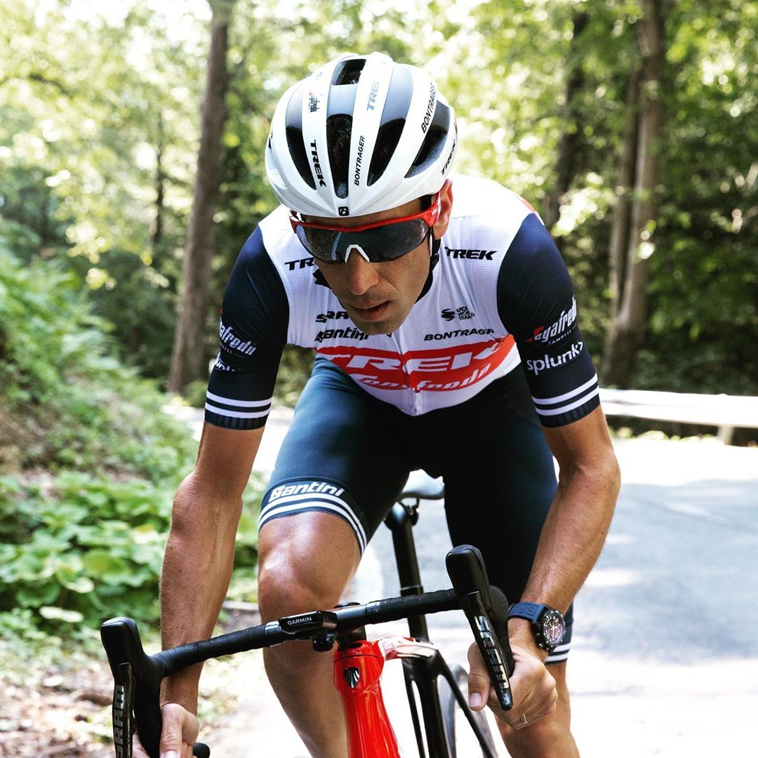 Vincenzo Nibali z týmu Trek Segafredo při tréninku na italské Giro. Foto: instagram