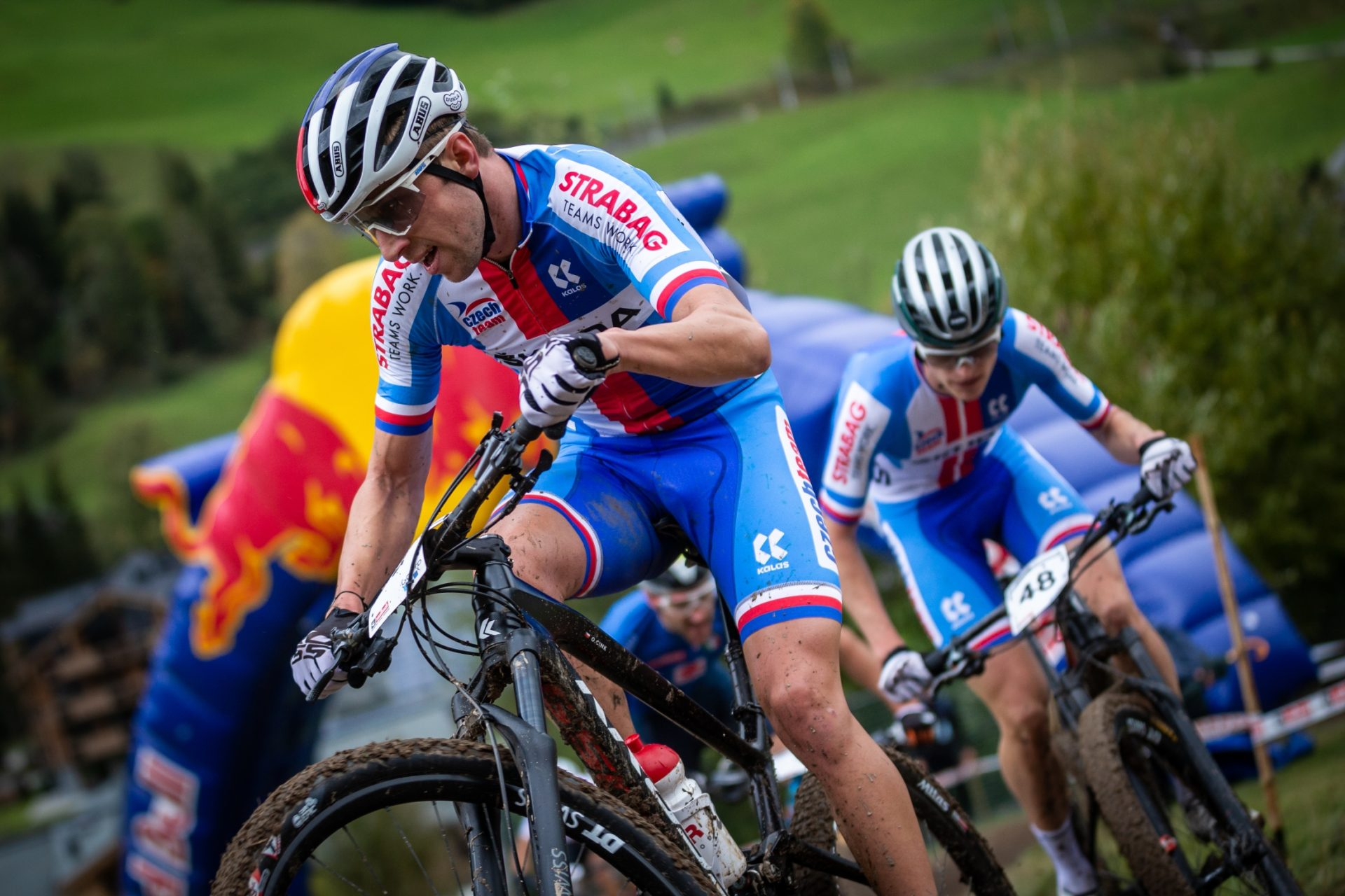 Biker Ondřej Cink na trati mistrovství světa v rakouském Leogangu. Foto: Michal Červený
