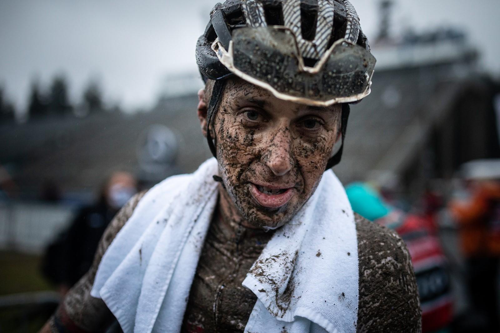 Biker Ondřej Cink po závodě světového poháru v Novém Městě na Moravě 2020. Foto: Michal Červený