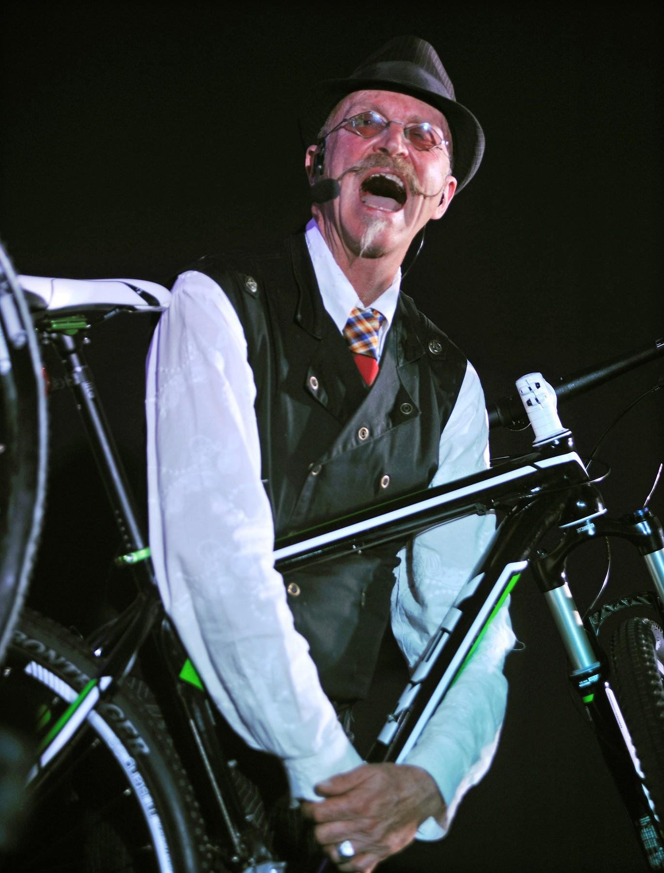 Gary Fisher při představení nového modelu horského kola Trek. Foto: profimedia