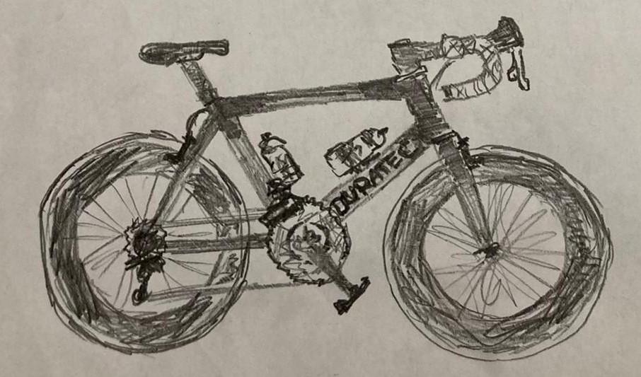 Jiří Ježek a kolo přenesené na papír očima nejúspěšnějšího paralympijského sportovce historie.