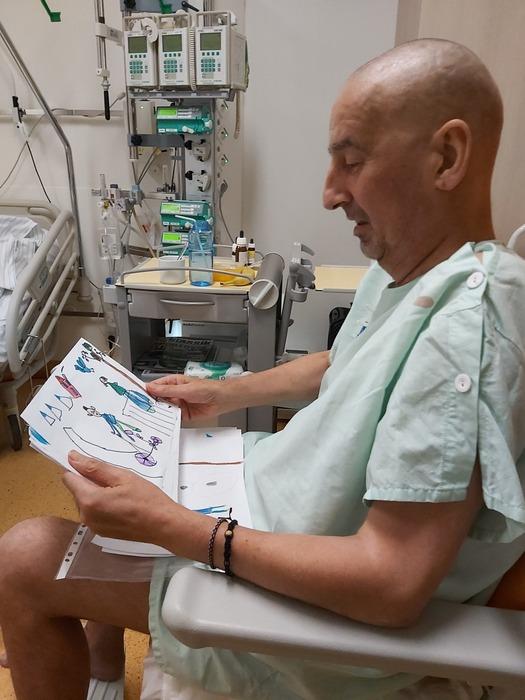 Luboš Lom, bývalý elitní cyklista, během léčby zákeřné nemoci. Foto: