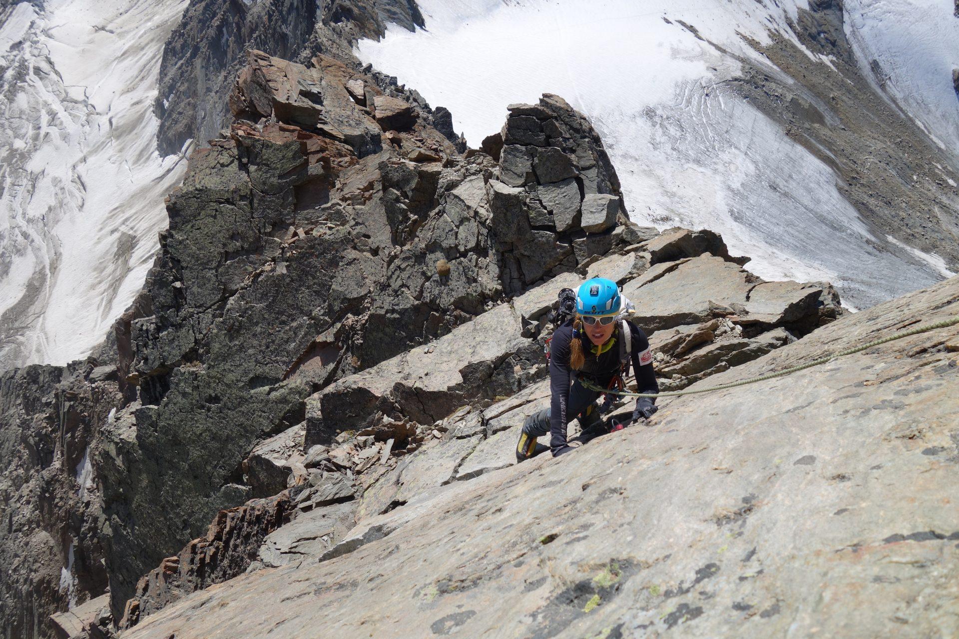 Lucie Výborná netají, že kolo je pro ni prostředkem k nabírání fyzické kondice pro pobyt v horách. Foto: archiv Lucie Výborné