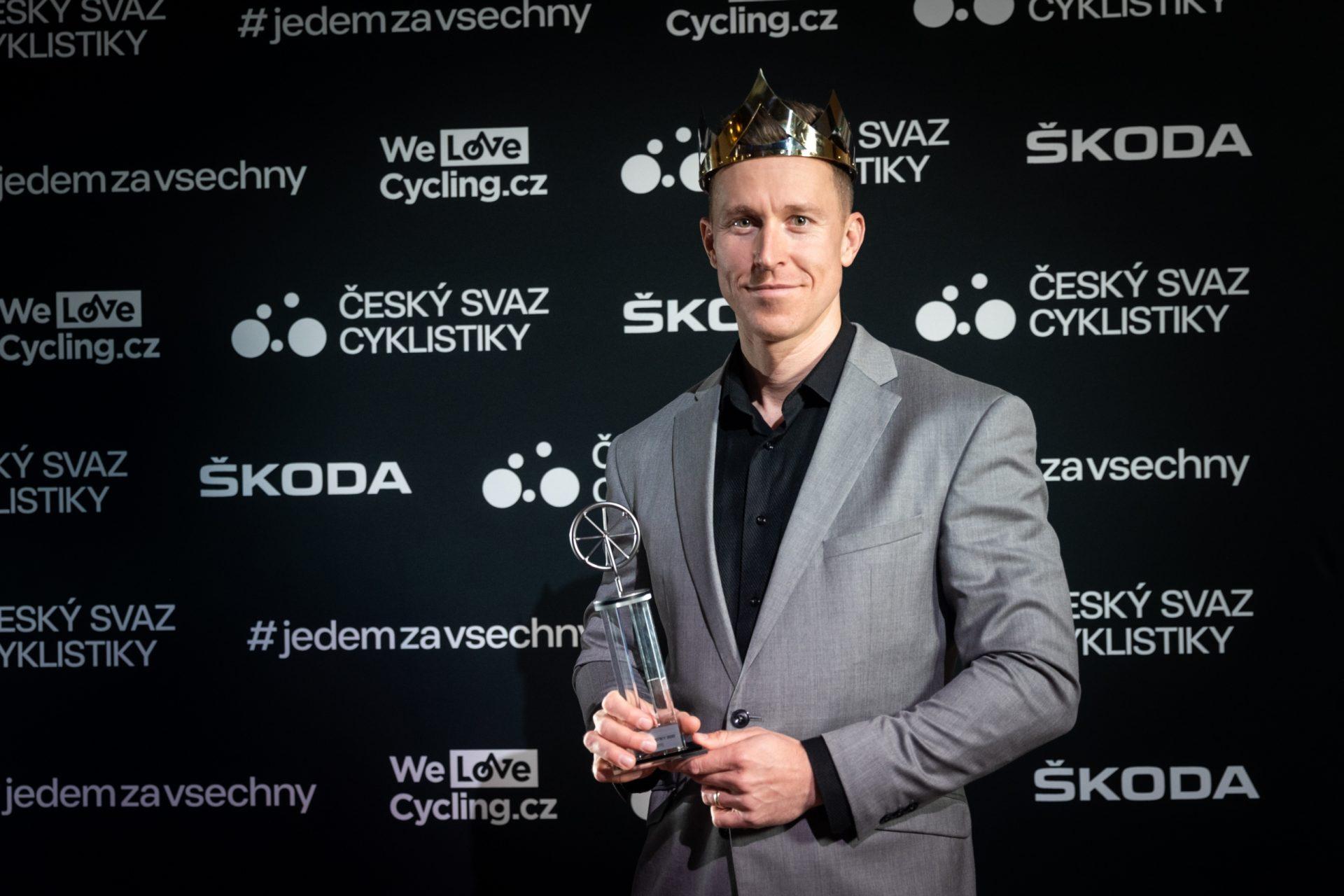 Tomá Bábek podruhé v kariéře ovládl anketu Král cyklistiky. Prvně slavil triumf v roce 2017. Foto: Michal Červený