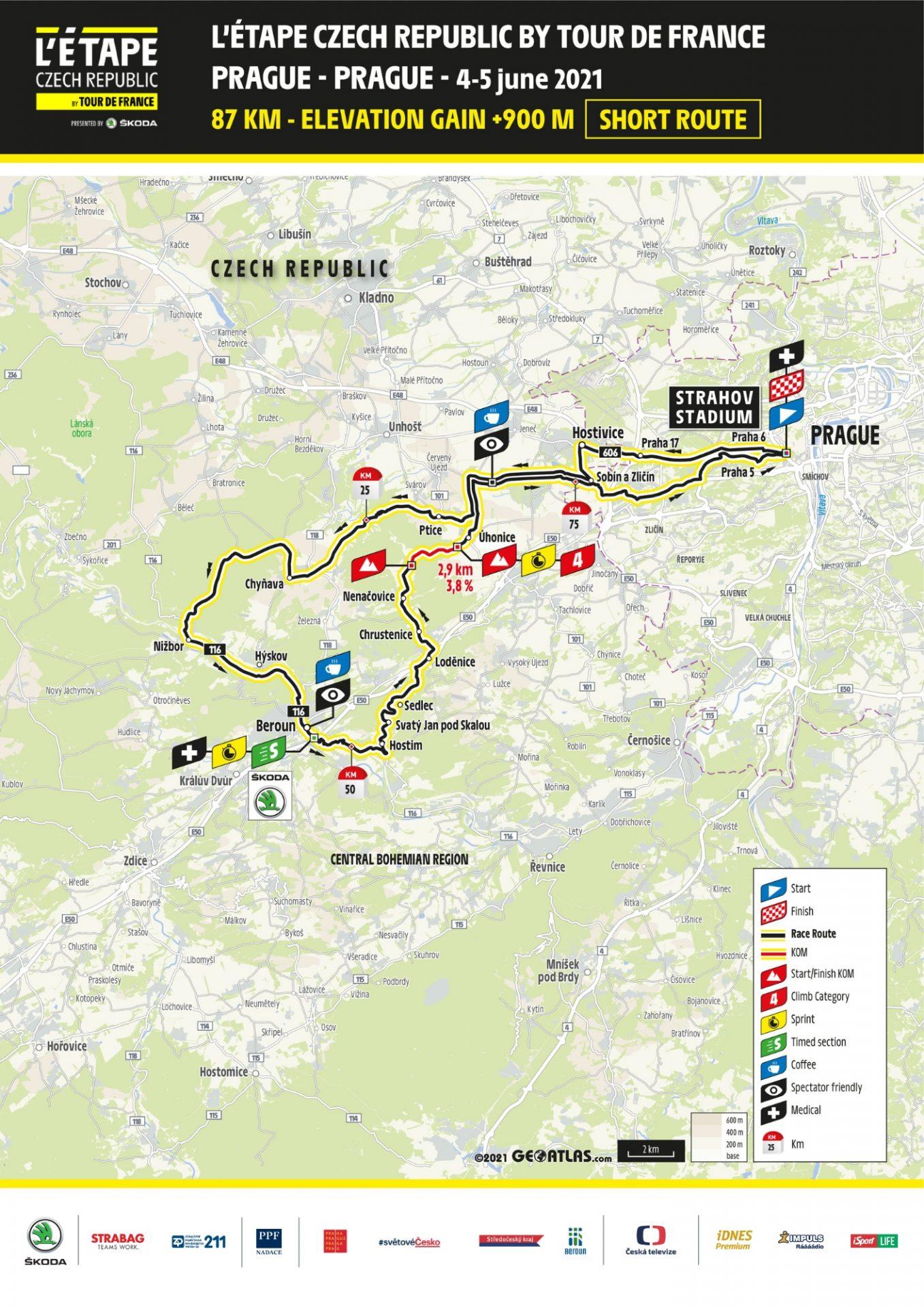 L'Etape Czech Republic by Tour de France v její krátké podobě.