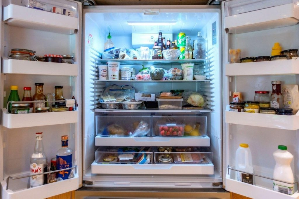 Fridge full of food