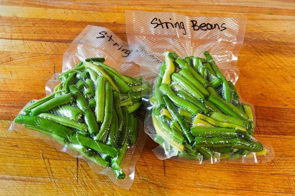 Vacuum sealed beans