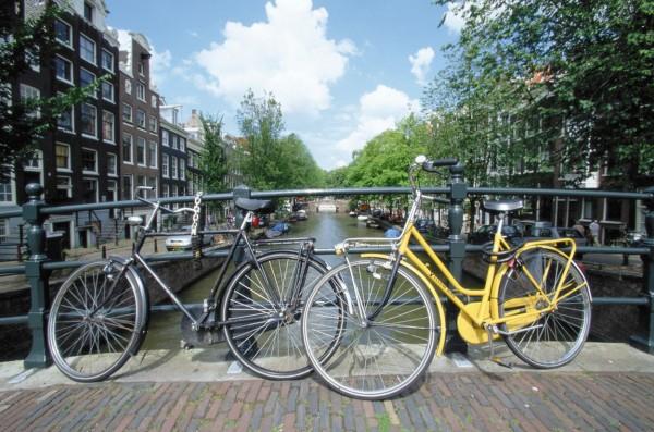 City bikes in Amsterdam