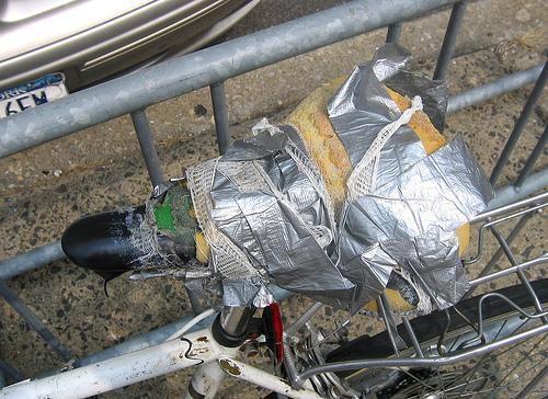 Duct taped saddle, Photo: ducttapegenius.com