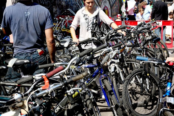 Bicycles on sale in London's Brick Lane flea market