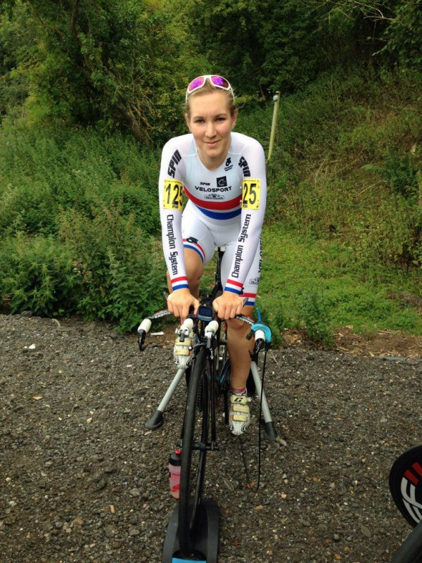 """""""I liked the simplicity of it,"""" she said. """"It's you, the bike and the clock. I finished second in a national time trial series and thought, 'I can do this. Maybe if I lose some more weight I can get better?'."""""""
