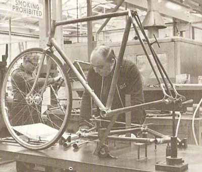 Founded in Nottinghamshire, the renowned bespoke bike builder was bought by a British bike manufacturers Raleigh bicycles in 1960 and with it came legendary bike designer and engineer Gerald O'Donovan.