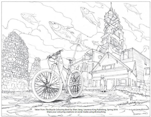 Shan Jiang created a 120-page book, which combines the elements of cycling and fantasy and is simply stunning. Just pick up some pencils and let your own imagination run wild!