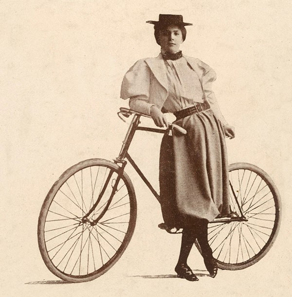 In a story better suited to a novel than real life, Annie Londonderry was the first woman to cycle around the world from Boston in 1894, on a bet wagered by two men who didn't think a woman could manage it.