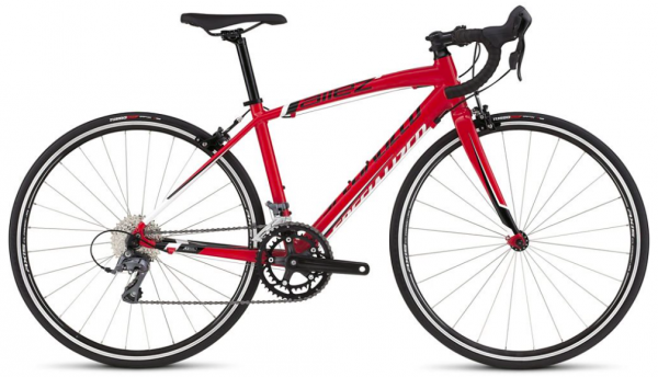 We also love the price point for the Specialised Allez Jr. It is a miniature version of the adult Specialised Allez and just looks stunning for £400. It's got 650c wheels, so just under the 700c wheels that are on adult road bikes.