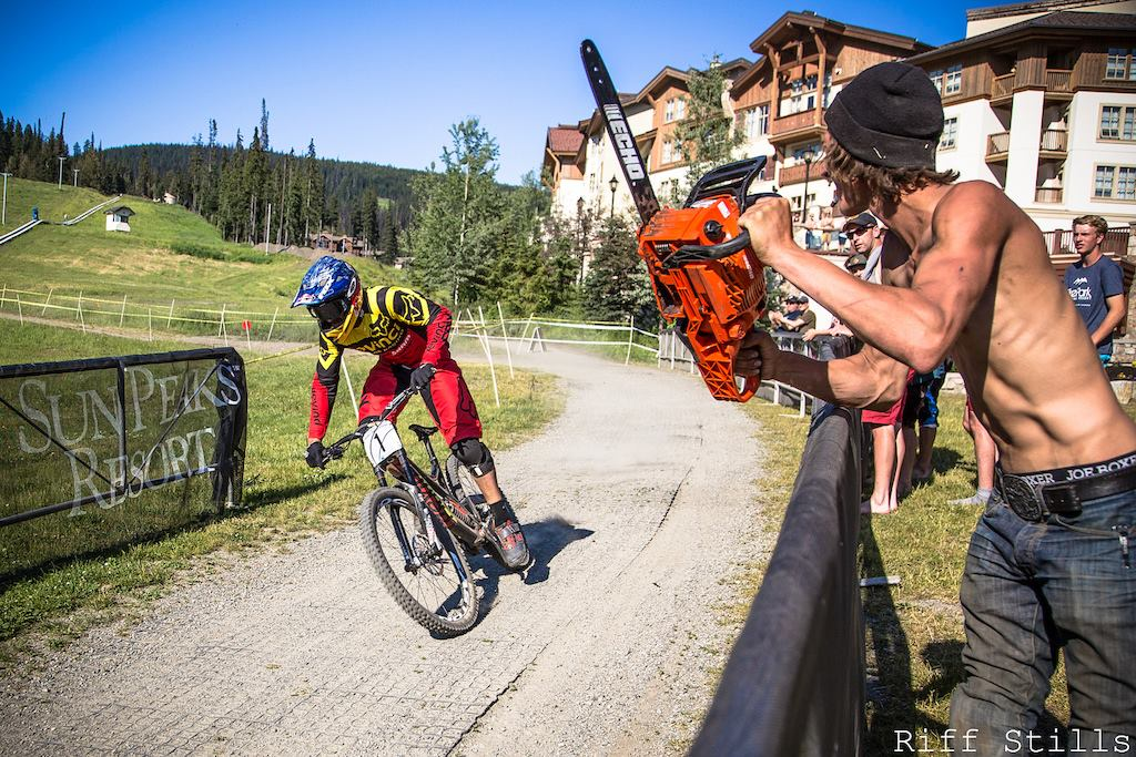 """Born on the Vancouver Island, Stevie was a natural talent and quickly got recognition in the local MTB community. Hard training on the trails of Mt. Prevost paid off in 2013, when he took home the World Cup wins at Leogang, Hafjell, and Mont-Sainte-Anne. That resulted in the overall title, and """"The Canadian Chainsaw Massacre"""" became winner of the downhill racing's ultimate series of races."""
