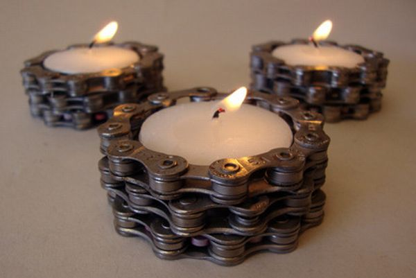 Tea-light holders for a romantic evening with your bicycle.
