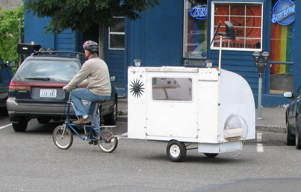 Bike campers allow travellers to venture anywhere they physically can, while having a miniature camper trailing behind. The growing popularity comes from the simplicity behind the design and low maintenance cost.
