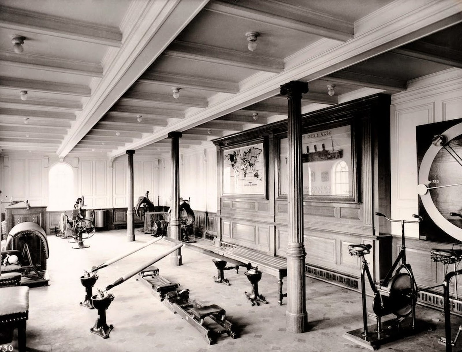 First Class Gym on the Titanic.