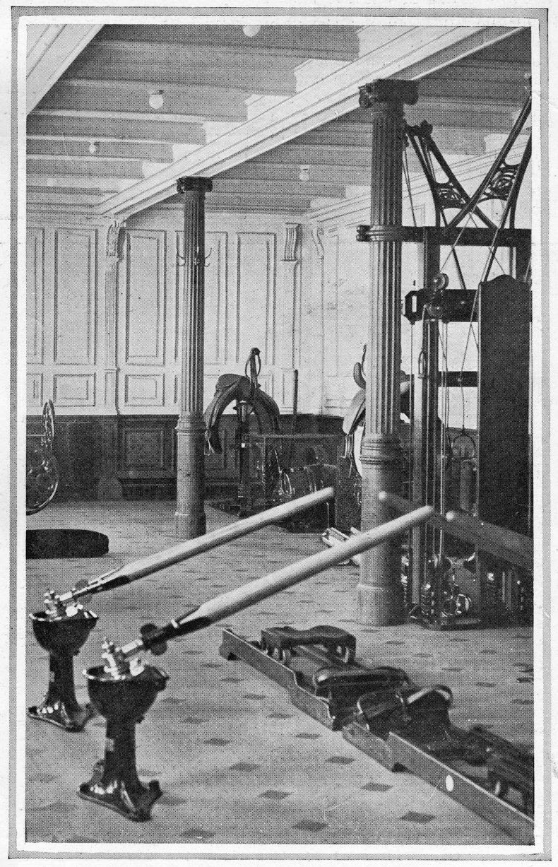 The Titanic Gym wasn't nearly the only one in existence aboard the early cruise and ocean liners.