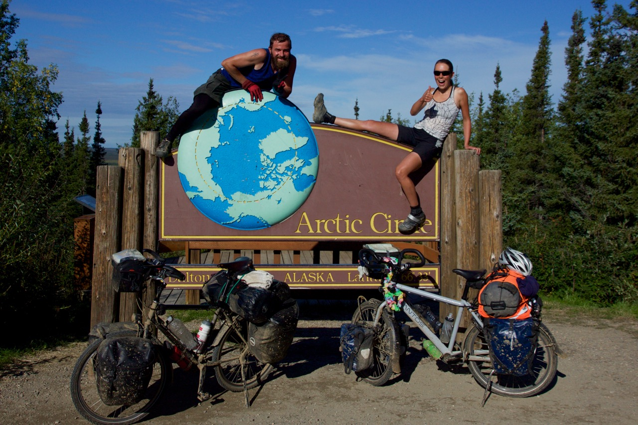 On day three we arrived at the artic circle *