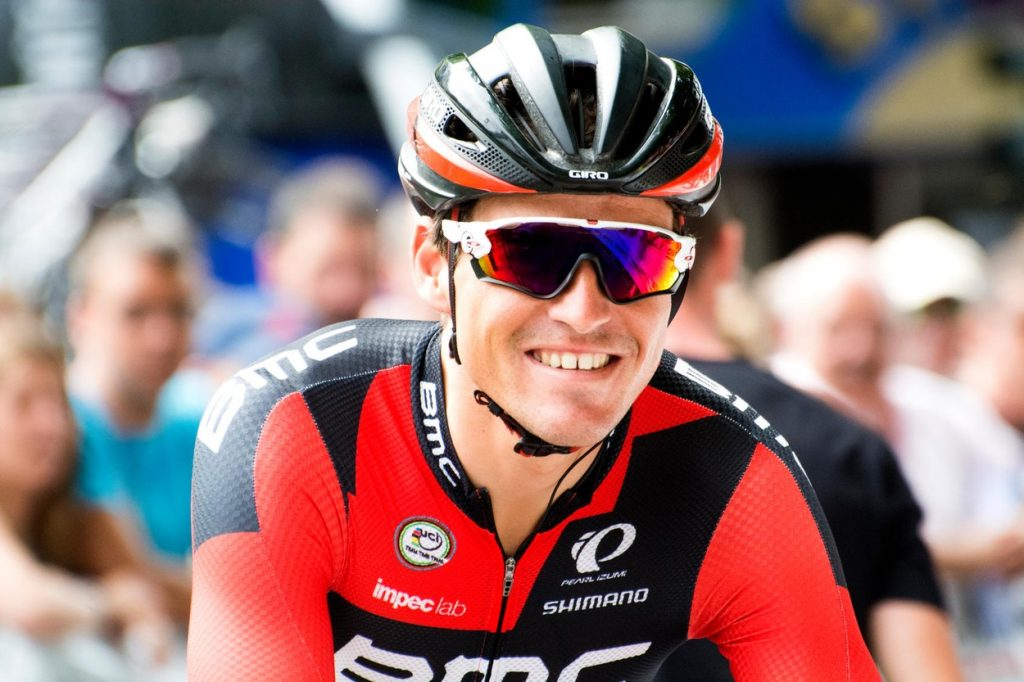 San Sebastian, Spain. 30th July, 2016. Greg Van Avermaet (BMC Cycling Team) during the 36th edition of the San Sebastian Classic (Clasica de San Sebastian), a race of one day of 2016 UCI World Tour, at Mayor Square on July 30, 2016 in San Sebastian, Spain
