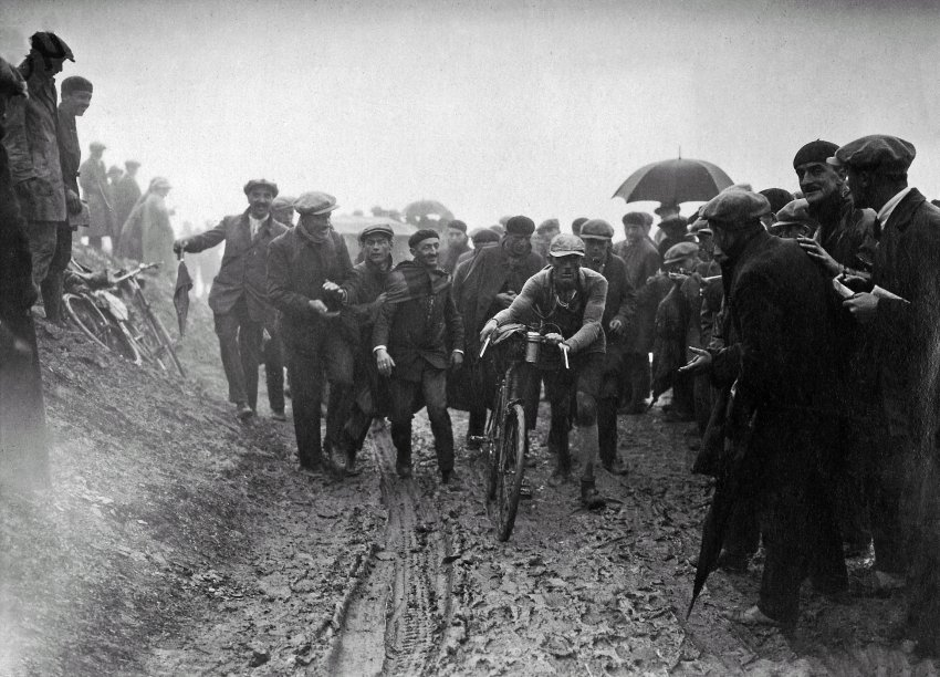 1926:The epic battle started at 2 AM. Riders went out in a downpour and even had to dismount on Tourmalet because of all the mud. By 10 PM, only 30 riders had crossed the finish line, and 15 were still missing the next morning.