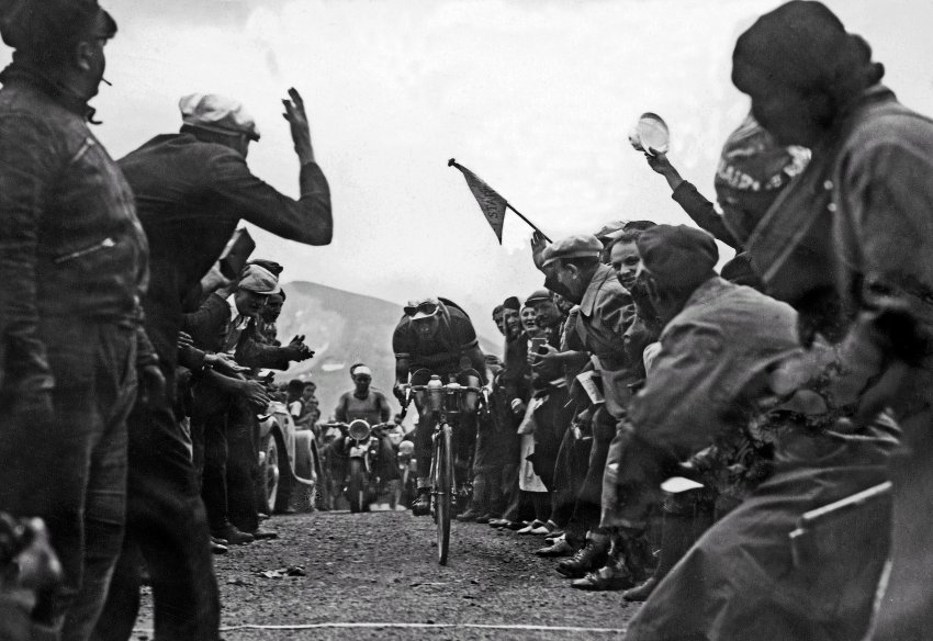 """1937:Gino """"the Pious"""" Bartali on the Galibier pass. He went on to win the Tour in 1938, but is best known for helping partisans in Nazi-occupied Italy and ultimately saving the lives of 800 Jews."""