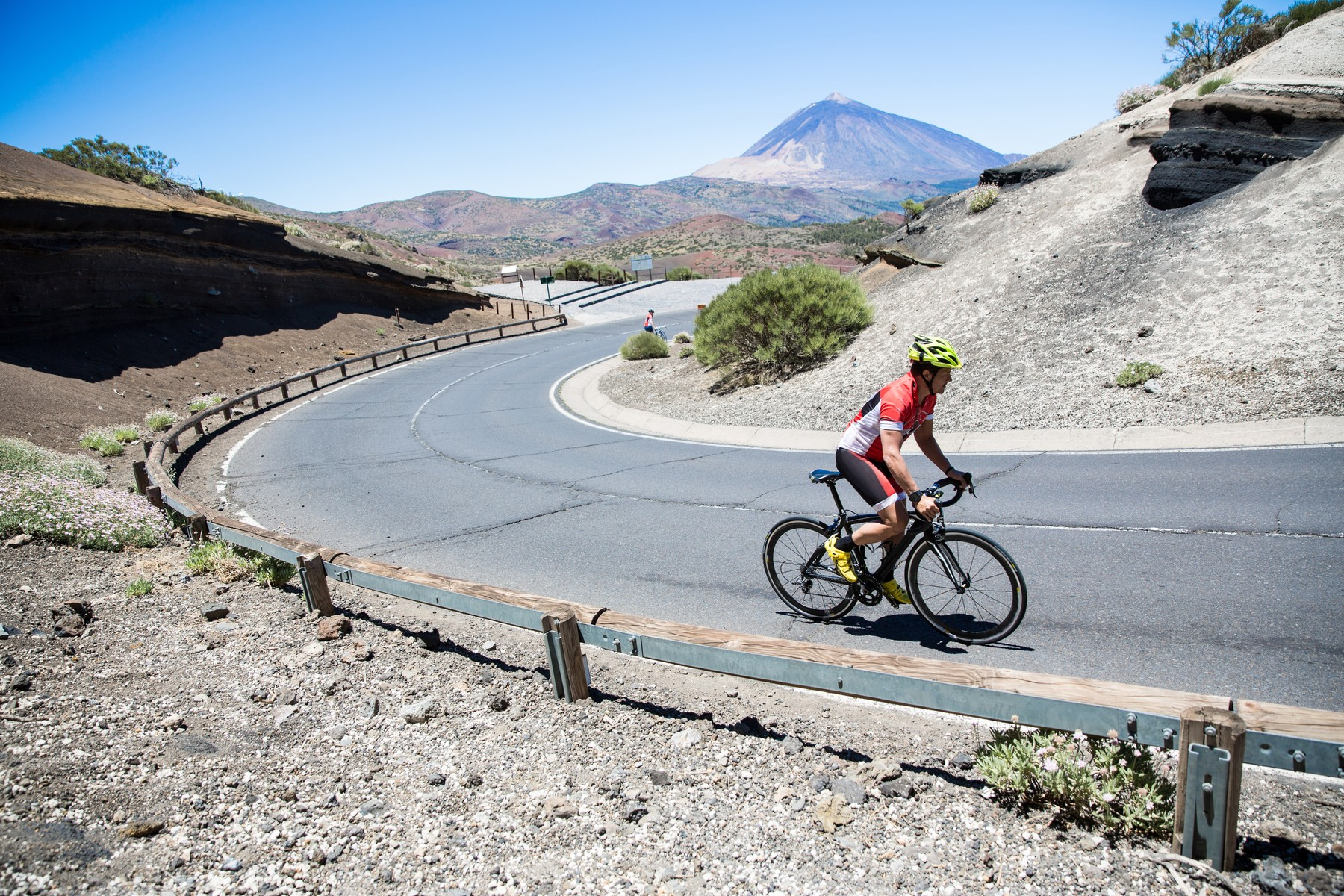 Male cyclist cycling up winding road, Tenerife, Canary Islands, Spain, Image: 295467126, License: Rights-managed, Restrictions: Specifically, you may not use the Images in ways or contexts that might reasonably be construed as pornographic, defamatory, libellous or otherwise unlawful; Specifically, you may not use images depicting any model in any unduly controversial or unflattering context, unless accompanied with a statement indicating that the person is a model and the images are being used for illustrative purposes only., Model Release: yes, Credit line: Profimedia, Cultura RM