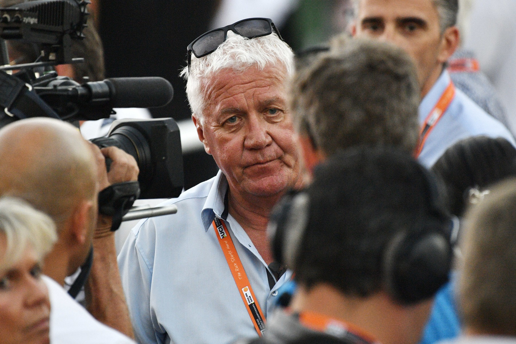 October 16, 2016 - Doha, QATAR - Belgian Patrick Lefevere, General manager of team Etixx - Quick-Step pictured after the men's elite road race at the 2016 UCI World Road World Cycling Championships in Doha, Qatar, a race of 257.5 km from Doha to Doha, Sunday 16 October 2016. BELGA PHOTO YORICK JANSENS, Image: 302972462, License: Rights-managed, Restrictions: * Belgium, France, Germany, Luxembourg and Netherlands Rights OUT *, Model Release: no, Credit line: Profimedia, Zuma Press - News
