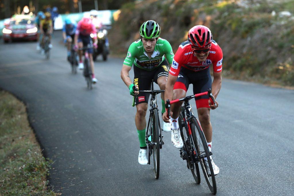 Roglič and Carapaz at 2020 La Vuelta