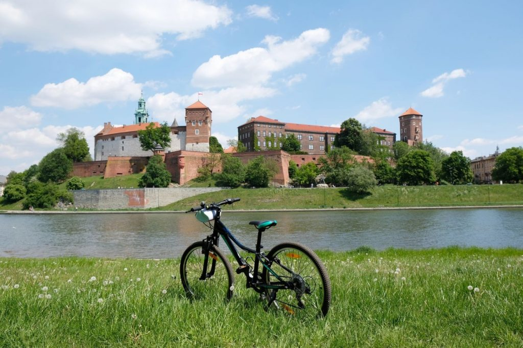 Bicycle near river