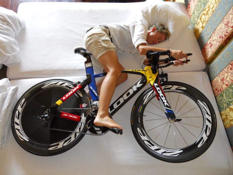 When you see professional tour cyclists eating on their bike, they're fuelling for the next day.