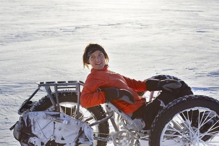 Il 17 dicembre del 2013, Maria Leijerstam iniziò il suo viaggio in bicicletta dalla Barriera di Ross, al limite dell'Antartide, fino al Polo Sud, con un mezzo di trasporto a tre ruote reclinabile costruito appositamente per la spedizione.